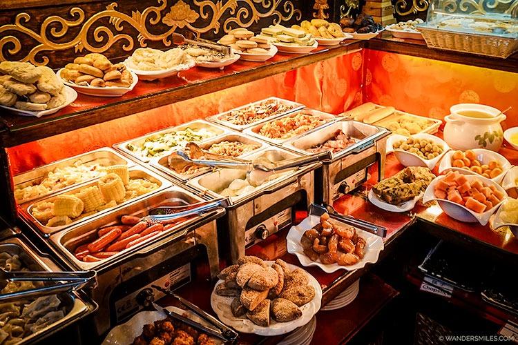 Breakfast at Beijing Double Happiness Courtyard Hotel