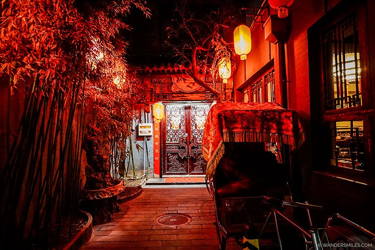 Entrance to the Beijing Double Happiness Courtyard Hotel off the hutongs in Dongcheng