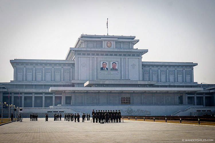 Outside of the Kumsusan Palace of the Sun - Things to see in Pyongyang