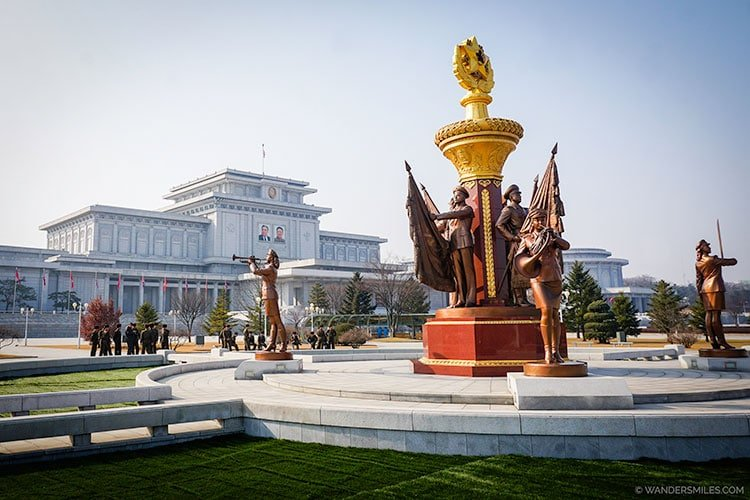 Gardens outside the Kumsusan Palace of the Sun - Things to see in Pyongyang