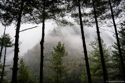 Misty mountains by Jorsalle on Everest Base Camp Trail