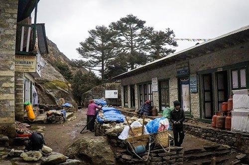 Village between Namche and Tengboche