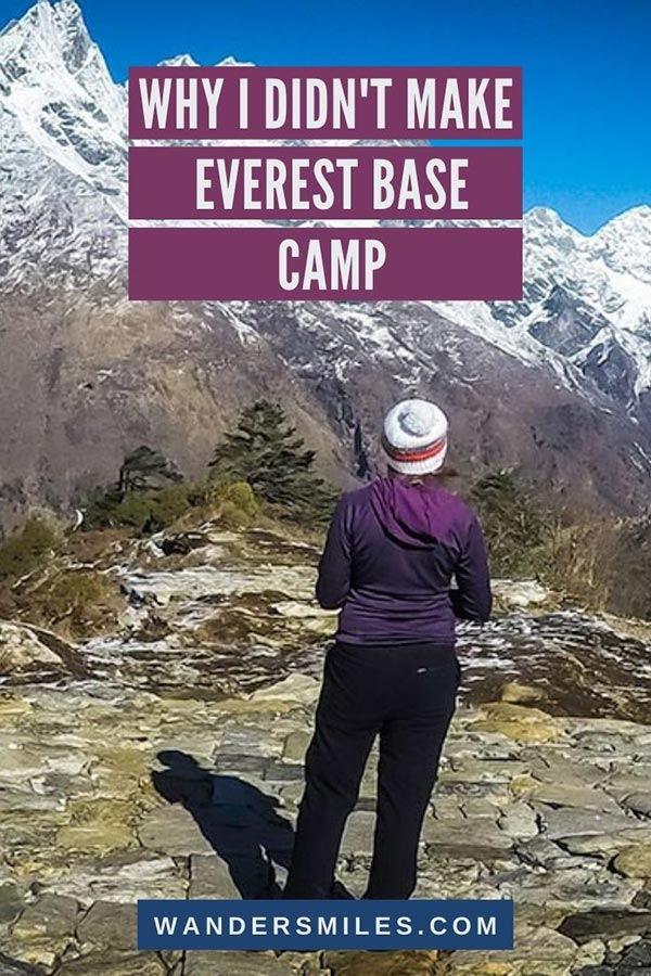 Find out why I didn't make Everest Base Camp and called for medical evacuation | Wanders Miles