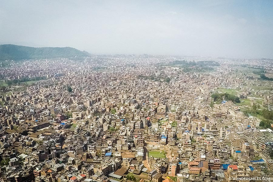 Kathmandu from Helicopter