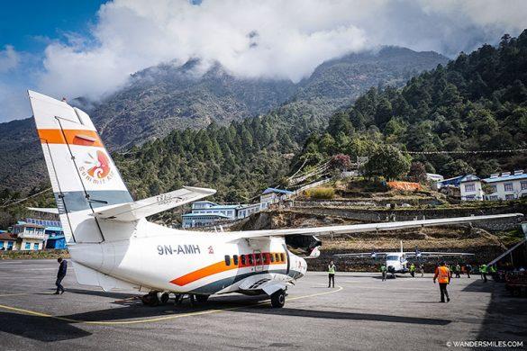 PLANE IN LUKLA AIRPORT, NEPAL
