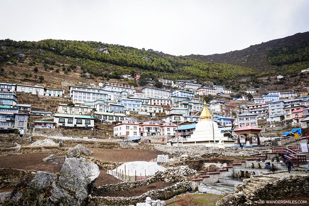 Views of Namche Bazaar on the Everest Base Camp Trail