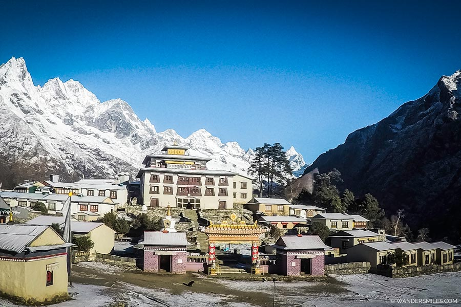 Tengboche Monastery in the Himalayas on the everest base camp trek