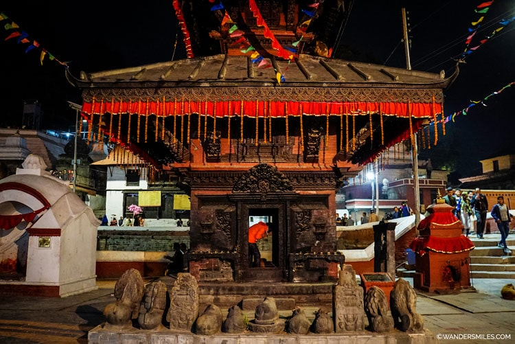 Shrine at Pashupatinath Temple, Kathmandu