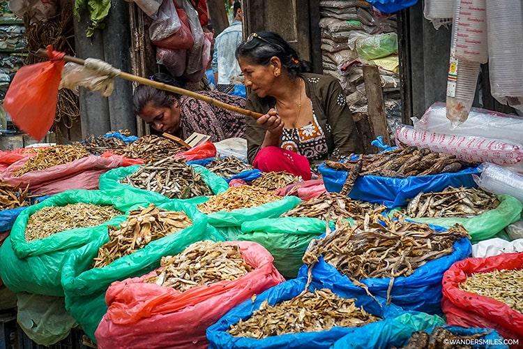 Stall at Ason Bazaar in Kathmandu