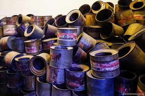 Empty gas cylinders found at Auschwitz