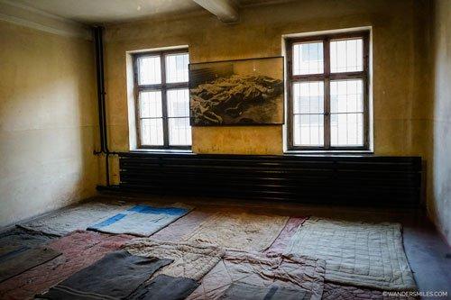 Living quarters at Auschwitz