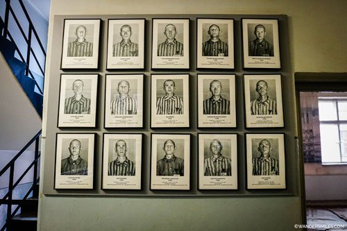 Photos of the prisoners at Auschwitz, Poland