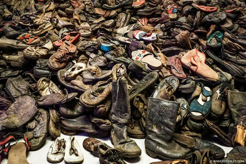 Millions of shoes found at Auschwitz from those that perished.