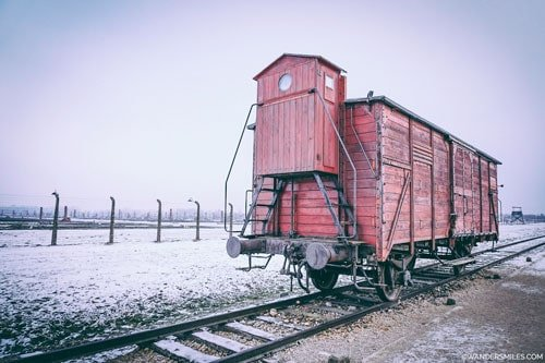 Train carriage at Auschwitz-Birkenau concentration camp