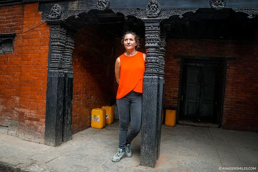 Waiting for Kumari Ghar in Durbar Square, Kathmandu