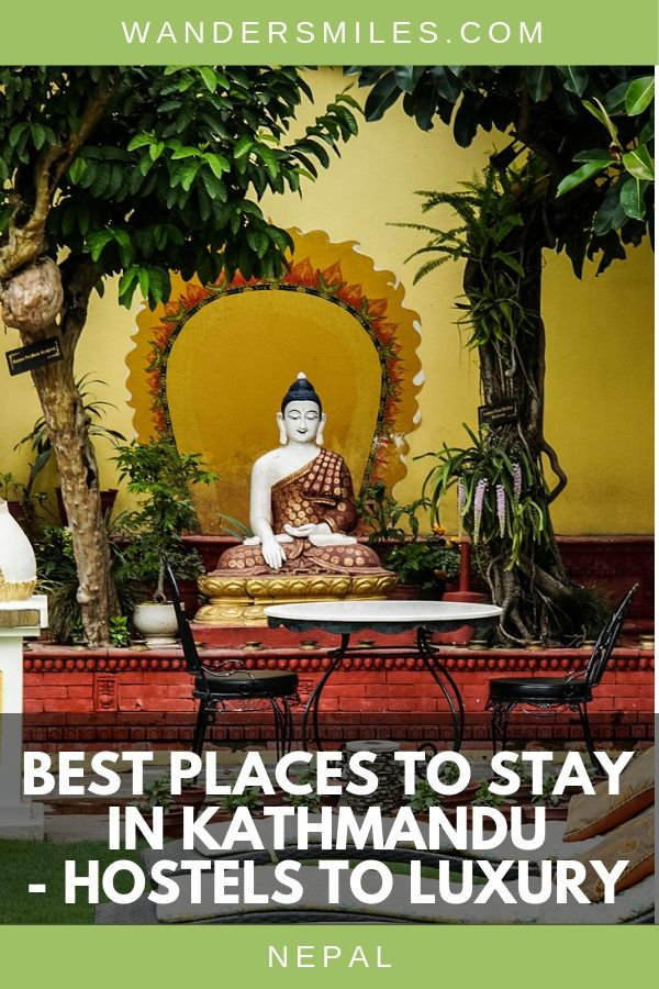 List of top hotels, guest houses and hostels in the city of Kathmandu for your trip to Nepal