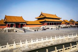 Main courtyard at the Forbidden City in Beijing