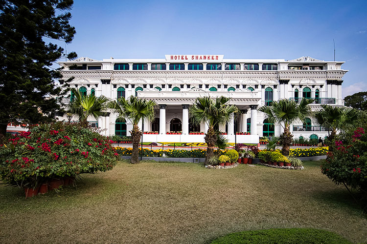 View of Hotel Shanker in Kathmandu