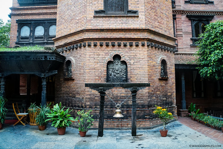 Entrance to the Kantipur Temple House Hotel in Thamel, Kathmandu