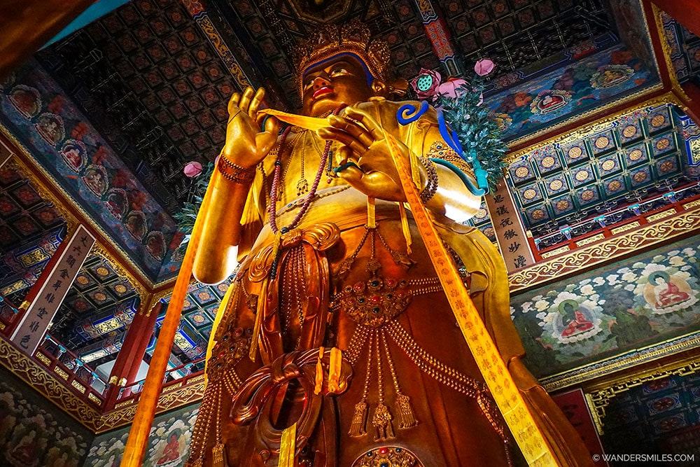 Maitreya Buddha at the Lama Temple in Beijing