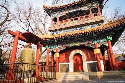 Wanfuge Pavilion at Lama Temple in Beijing