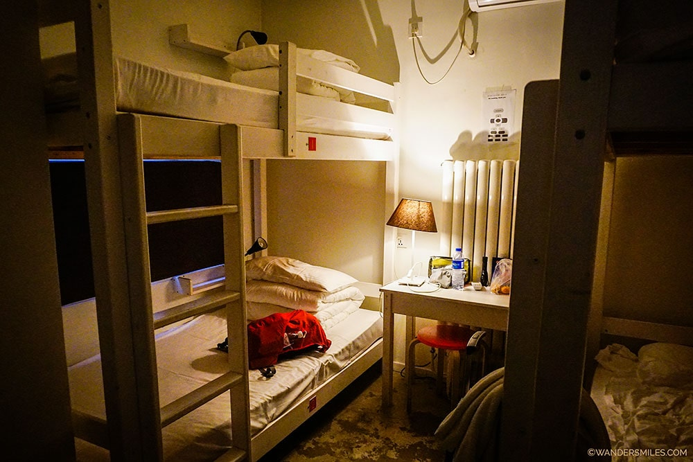Shared dormitory in Peking station Hostel in Beijing