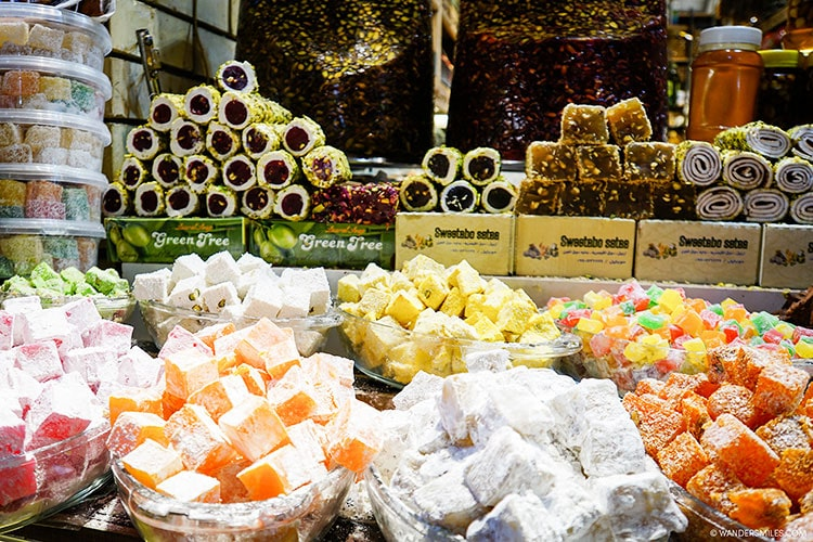 Candy in the Qaysari Bazaar in Erbil, Kurdistan