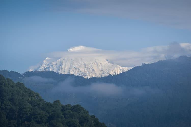 Rooftop View from Monkey Temple Backpacker Hostel in Kathmandu