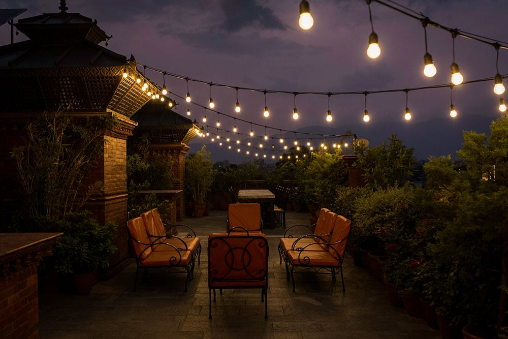 Roof terrace at the Traditional Comfort in Kathmandu