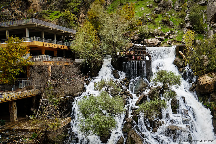 Bekhal waterfalls in the Rawanduz region of Kurdistan