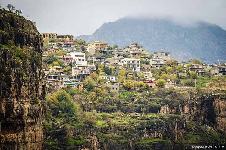 Town of Rawanduz at the edge of the canyon, Iraqi Kurdistan