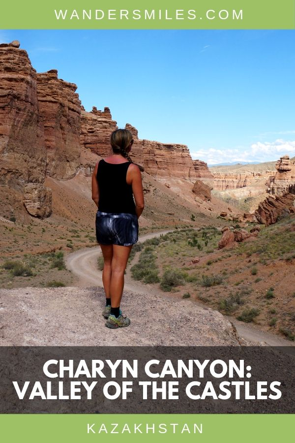 Charyn Canyon, Valley of the Castles, is a must-see if you're planning a trip to Kazakhstan, Central Asia #CentralAsia #Kazakhstan