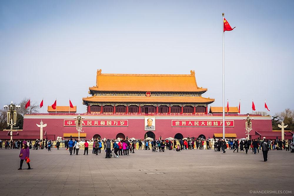 The infamous Tiananmen Square in Beijing