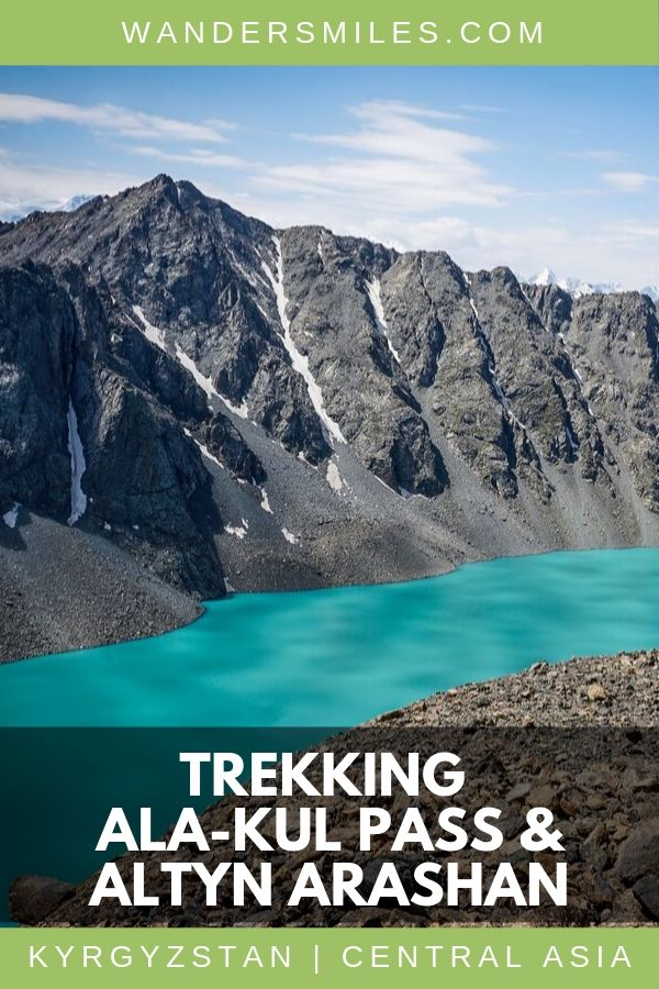 Tips on trekking the Ala-Kul Pass in Kyrgyzstan. Passing through alpine forest, rocky inclines, snowy peaks, waterfalls and turquoise Ala-Kul Lake.
