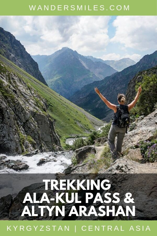 Guide to trekking the Ala-Kol Pass and Altyn Arashan in Kyrgyzstan – all you need to know.