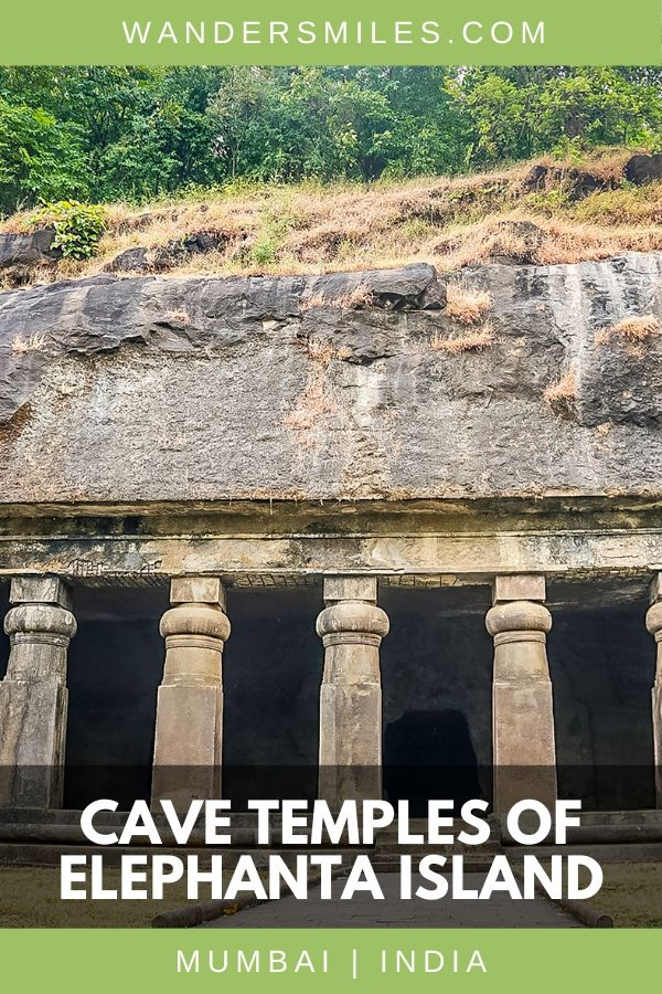 Filled with exquisite carvings and standing sculptures, the city of Elephanta Caves is found 10km off Mumbai. Details of how to get there and how much it will cost. #elephantacaves #visitmumbai #wandersmiles