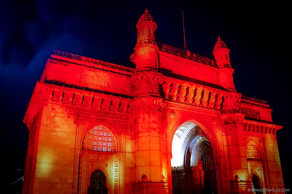 Gateway to India in Mumbai at night