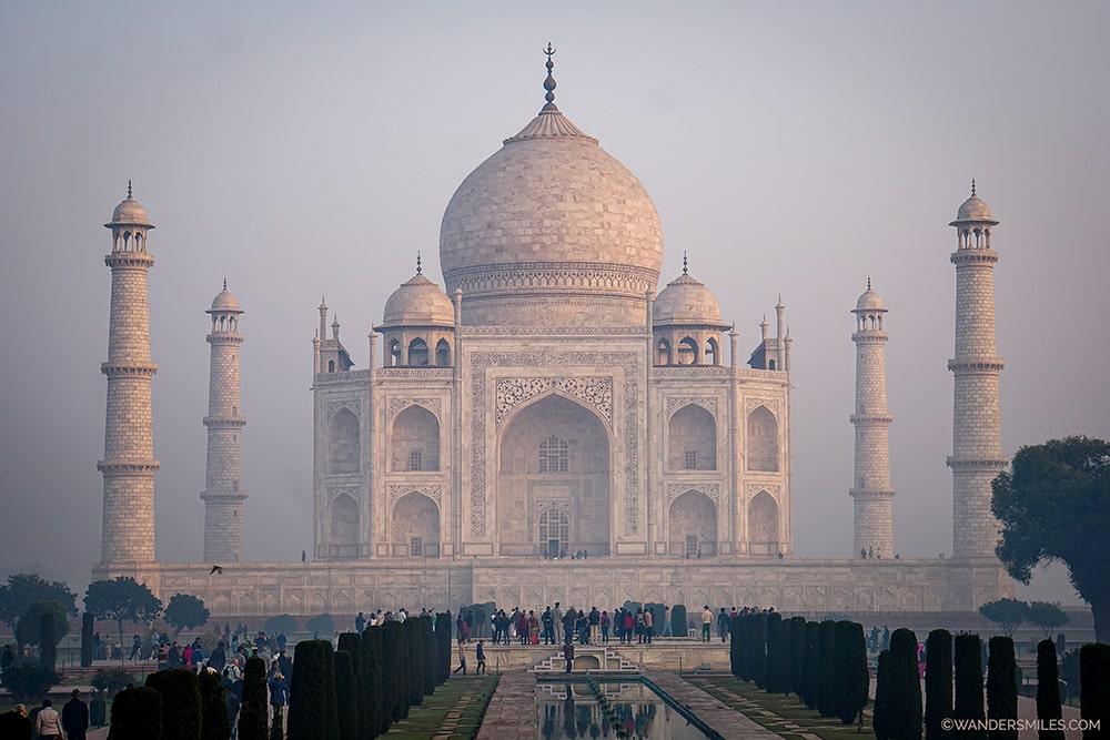 Taj Mahal on a misty morning
