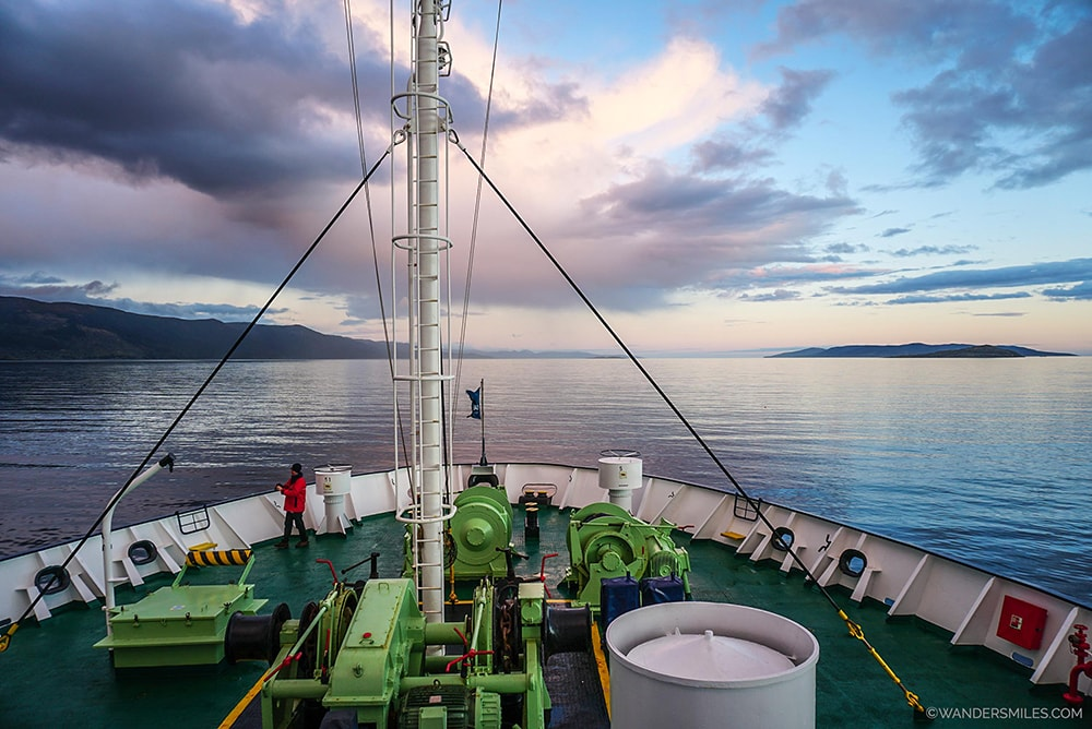 Navigating through the Beagle Channel, heading for the Drake Passage