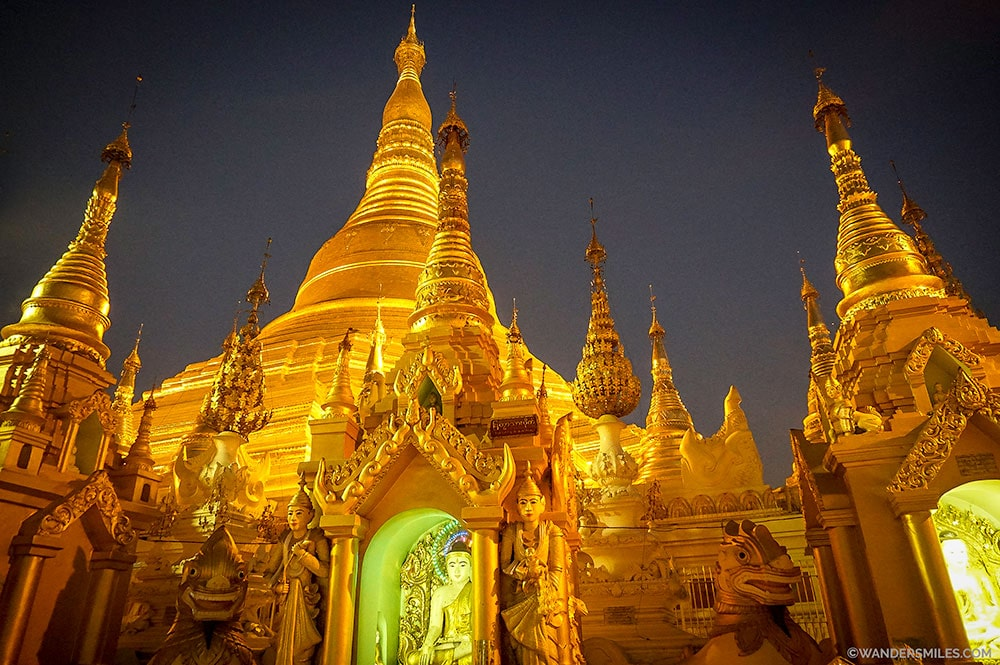Shwedagon Pagoda at dawn - Yamgon's most famous landmark