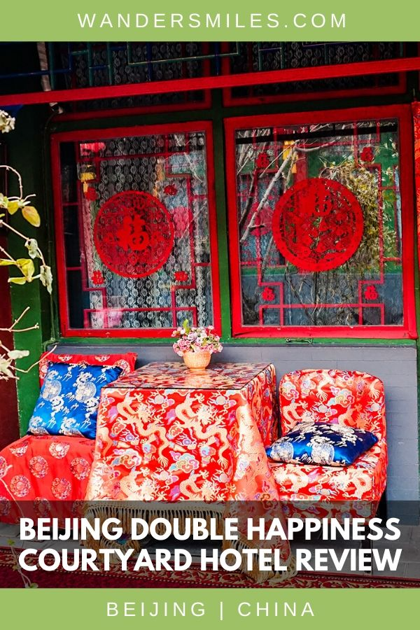 Review of Beijing Double Happiness Courtyard Hotel, a fine example of traditional Chinese living in Dongcheng