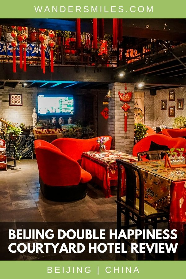 Stay at the Beijing Double Happiness Courtyard Hotel in Dongcheng in with beautiful traditional Chinese hutongs.