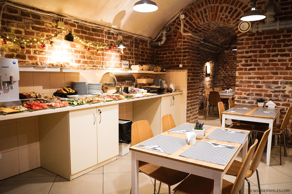 Breakfast Room in the basement of Pergamin Old Town Apartments in Central Krakow