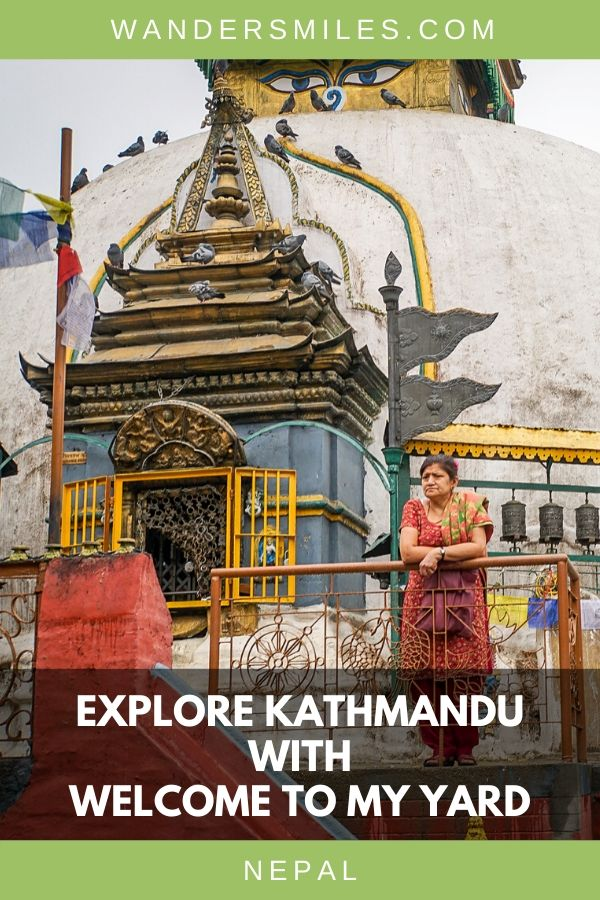 See the city sights of Kathmandu including Stupas, Ason Bazaar on a walking tour of Kathmandu City with Welcome To My Yard