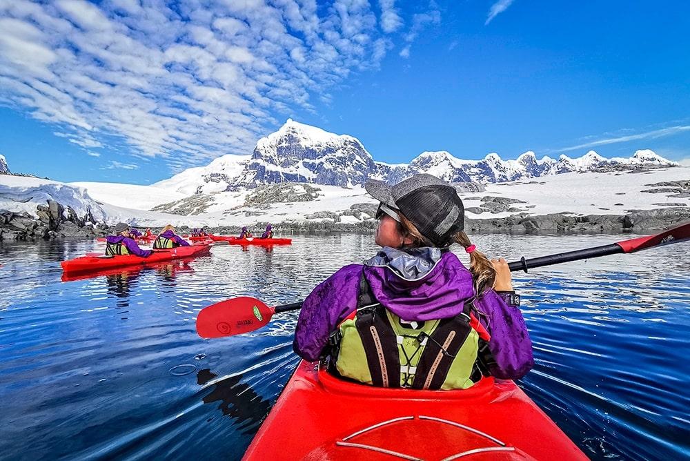 Kayaking in Port Lockroy, Antarctica - Wanders Miles