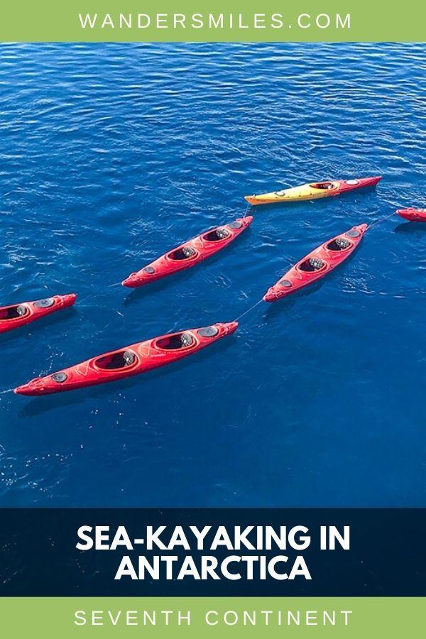 Preparing for sea-kayaking in the Antarctic waters by Port Lockroy