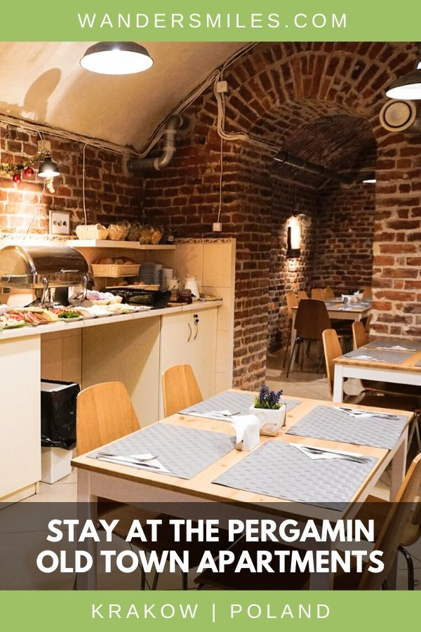 Review of Pergamin Old Town Apartments, a casual hotel only 1 km from Wawel Castle in Krakow Old Town