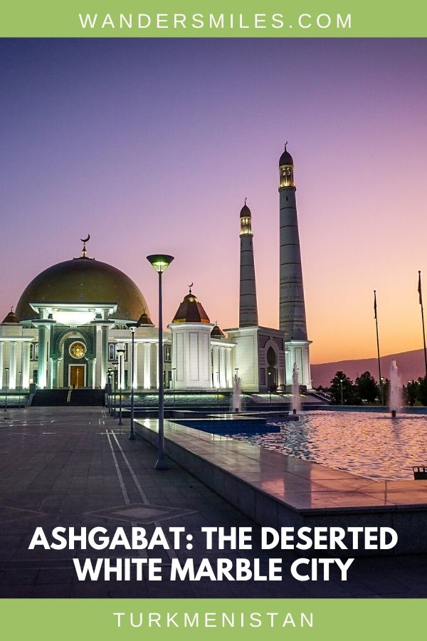 Kipchak mosque is one of the beautiful buildings to see on a trip to the deserted white city of Ashgabat