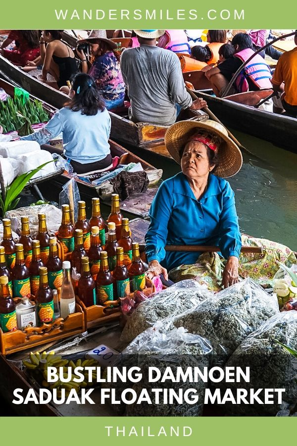 Soak up the chaotic atmosphere of the Damnoen Floating Market and indulge in the street food from vendors on the long boats