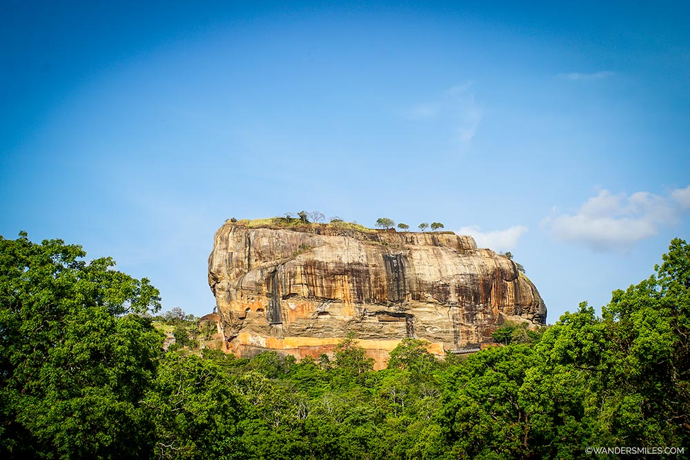 Seeing Sigiriya Rock - Sri Lanka